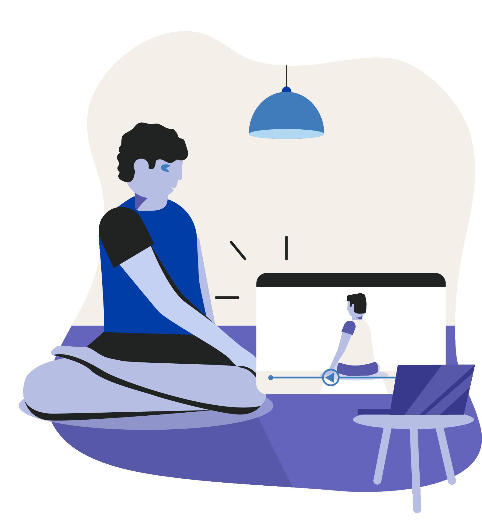 Virtual yoga and Pilates